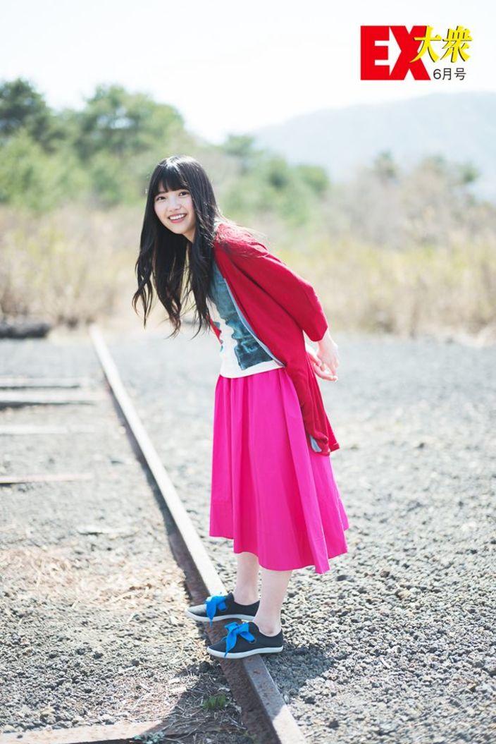 欅坂46上村莉菜、未公開グラビア【EX大衆6月号】