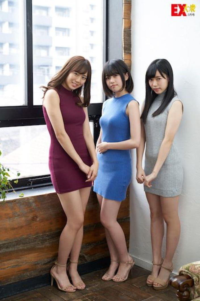 HKT48坂口理子、地頭江音々、運上弘菜、未公開グラビアpart.1【EX大衆3月号】