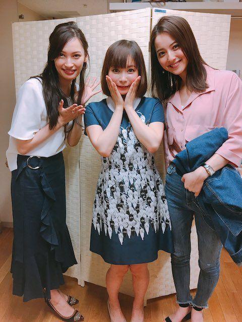 中川翔子さんと佐々木希さんと大政絢さん
